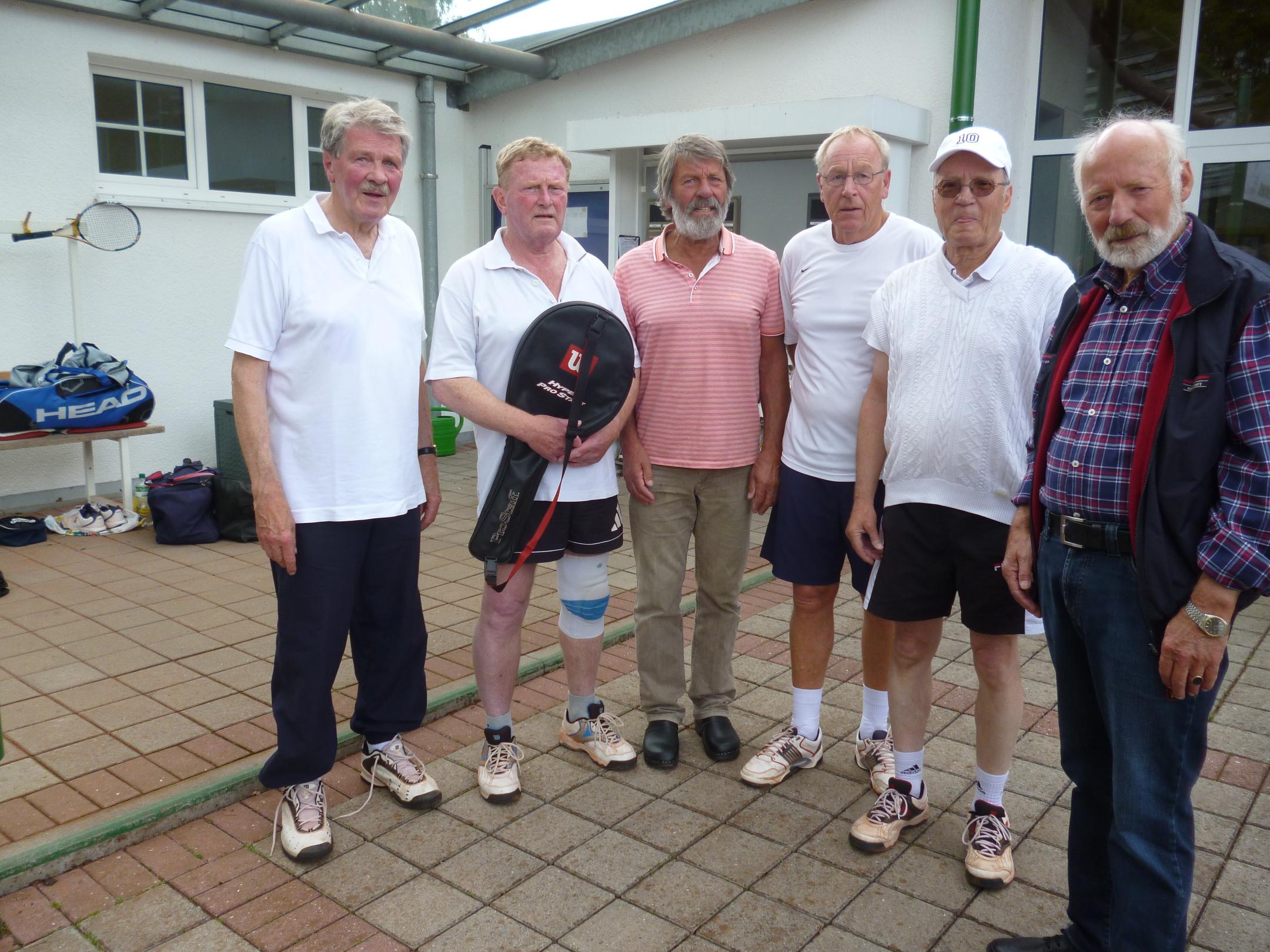die siegreichen Herren v.l. Lothar Hangebrauck, Franz Nienhaus, Ulrich Wittenberg, Werner Heuft, Ralf Weiß, Heiko Ritter